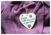 Room Plaques - Dogs Paw Prints